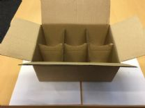 6 Jar Mailing Box 232x162x106mm 25 Pack